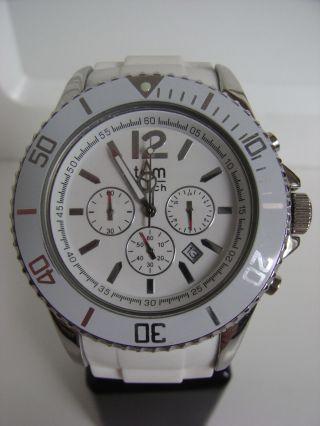 Tomwatch Chrono 48 Wa 0098 Weiß Armbanduhr Gl.  Produktion Wie Kyboe Uvp 119€ Bild