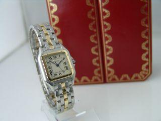 Cartier Santos Uhr In Stahl/gold Quarz Datumsanzeige Damen Bild