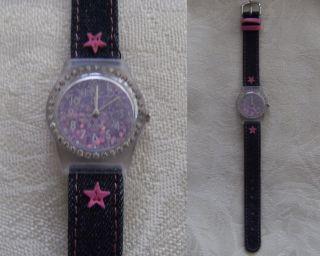 Mädchenuhr Mit Strasssteinen Aus Uhrensammlung - Ungetragen - Batterie Leer - K2 Bild