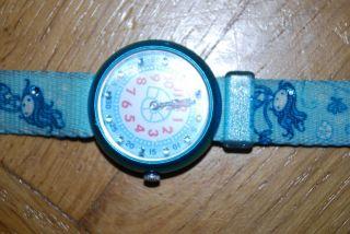 Wunderschöne Flik Flak Armbanduhr Meerjungfrau Bild