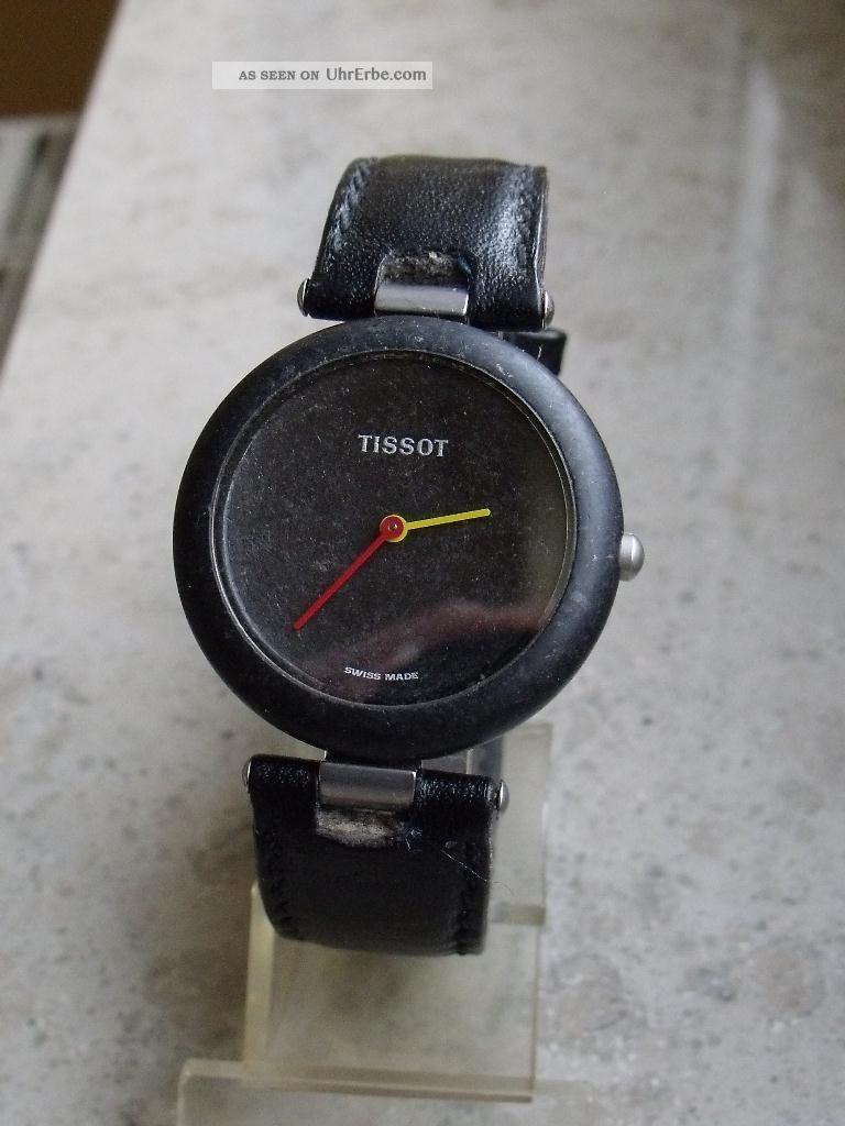 Seltene Tissot Rockwatch R151 - Die Begehrte 32mm Unisexvariante In Schwarz Armbanduhren Bild