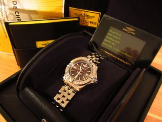 Breitling Galactic 32 Chronometer Damenuhr Stahl / Ziffernblatt In Solar - Bronze Bild