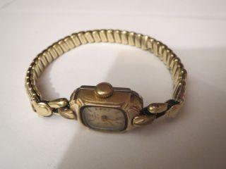 Antik Vintage Damenuhr Dugena 585 Gold Armband 23 Gramm Handaufzug Mechanisch Bild