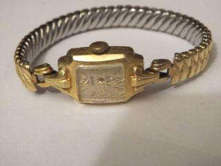 Antik Vintage Damenuhr Condor 585 Gold Handaufzug Mechanisch Läuft Gut Weihnacht Bild