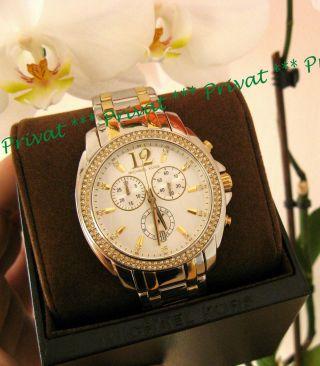 Michael Kors Uhr Mk5603 Damenuhr Chrono Gold - Silber Bicolor Chic Bild