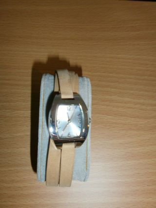 Tcm Tchibo Damen Armbanduhr 24 Cm,  Lederarmband Wickeloptik,  Top Bild