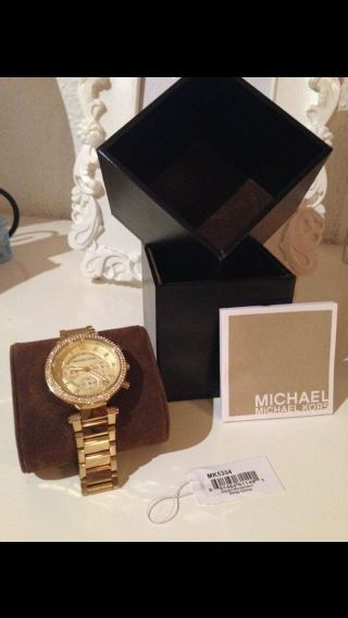 Michael Kors Mk5354 Parker Damenuhr Armbanduhr Edelstahl Uhr Farbe Gold Bild