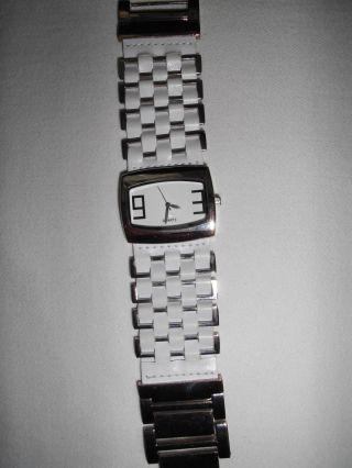 Da.  Armbanduhr Weiß / Edelstahl Bild