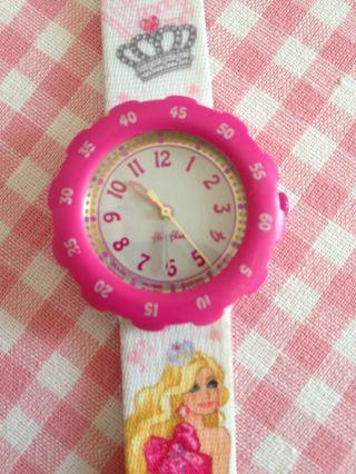 Flik Flak Fls015 ☆ Kinder Armbanduhr Mädchen Barbie Rosa ☆ Swatch ☆ Rar Bild