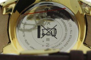 Skagen Denmark 433xlgl1 Slim Herren Uhr Uhren Pvd Vergoldet Leder Braun Multif. Bild