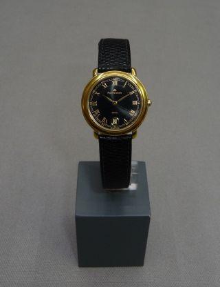 Maurice Lacroix Damenuhr Vergoldet M.  Lederband 89460 Damen Uhr Gold Bild