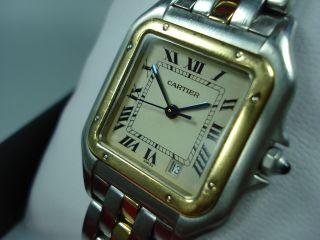 Cartier Panthere Armbanduhr Stahl/gold Medium Bild