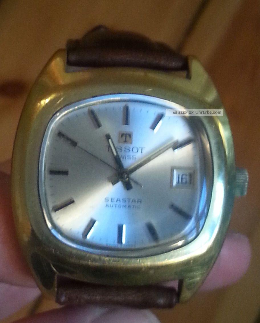 Vintage Tissot Seastar Automatic Armbanduhren Bild