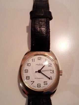 Seltne Ruhla Vergoldet Herrenuhr Handaufzug Deutsche Uhr Made In Gdr Bild