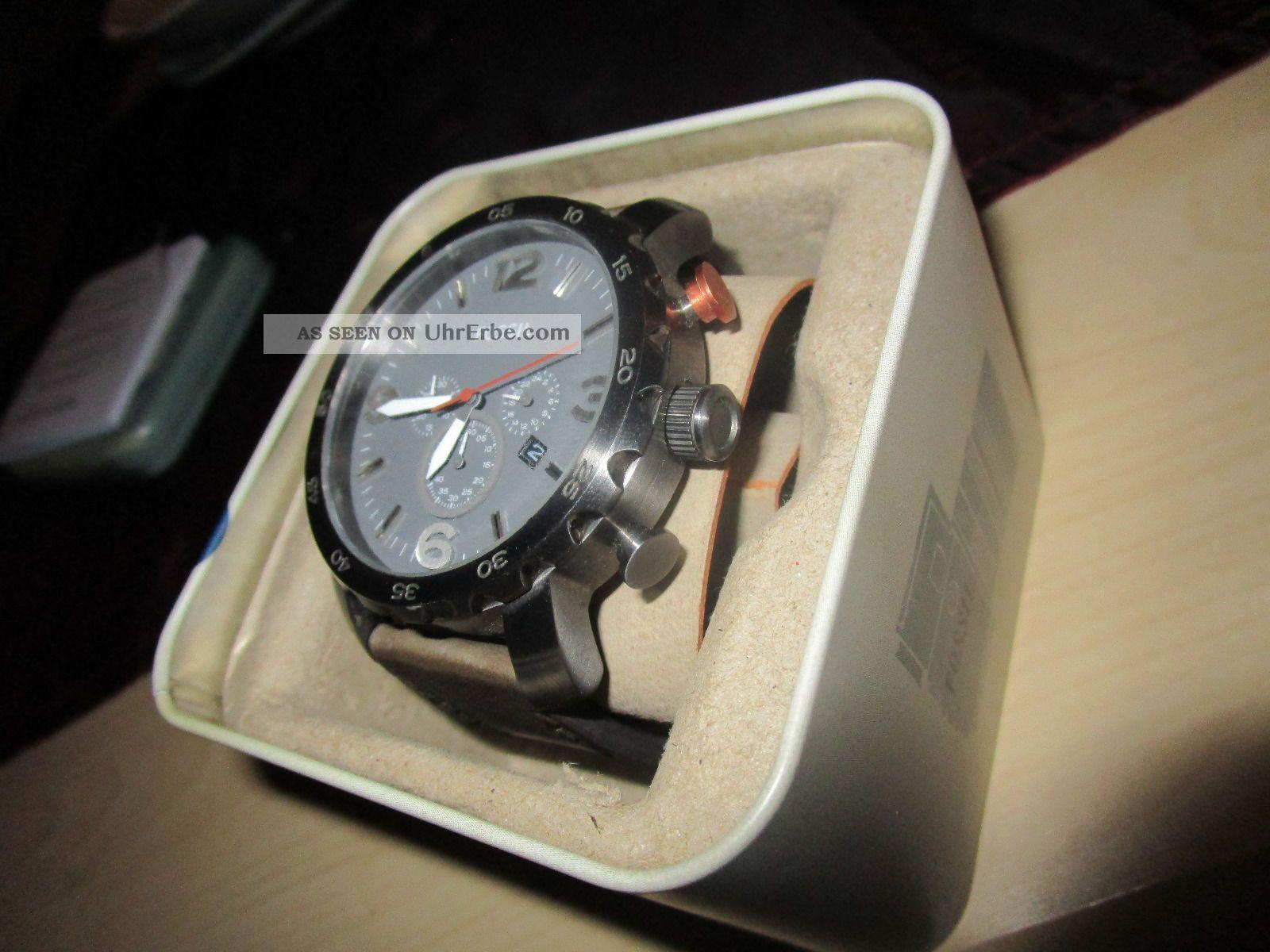 Fossil herren armbanduhr xl analog quarz leder jr1419