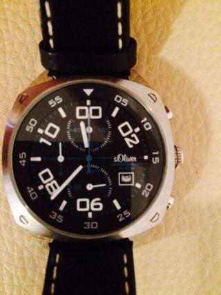 S.  Oliver Chronograph Armbanduhr Neuwertig Top Bild
