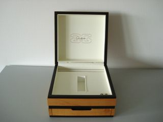 GlashÜtte Edle Holz Armbanduhr Box Mit Schieber Ansehen Top Bild