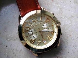 Michael Kors Chronograph 2251 Damen Uhr,  Verg.  Stahlgehäuse/armband,  Neuwertig Bild