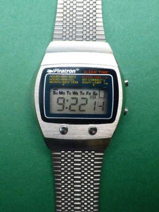 Piratron P - 227a Lcd Quarzuhr Armbanduhr Vintage  3676 Bild