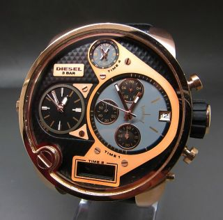 Rose Gold Diesel Dz - 7261 Sba Big Daddy Chronograph 4zeitzone Chronograph Uhr Bild