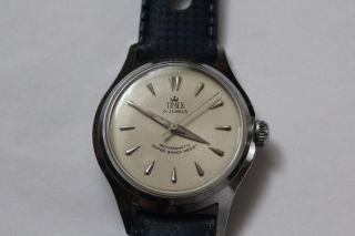 Timex 17 Jewels Herrenarmbanduhr Werk Hb 115 An Sammler Oder Liebhaber Bild