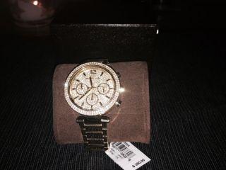 Michael Kors Parker Gold Töne Damenuhr Chronograph Mk5856 Np Usd 350,  00 Bild