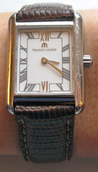 Maurice Lacroix Damen Uhr - ' Les Classiques ' Mit Lederarmband Bild