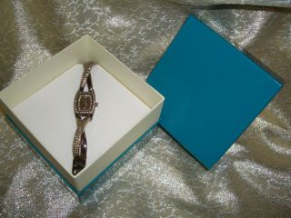Dkny Donna Karan Damenuhr Braun Kupfer Bronze Strass Zirkonia Armbanduhr Bild