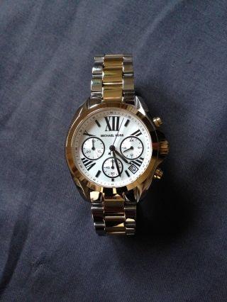 Michael Kors Chronograph Silber/gold Aus Edelstahl (mk5912) Für Damen. Bild