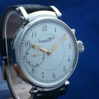 Iwc Schaffhausen Antik Uhrverk Umwandlung - Armbanduhr,  Art - Deco - Stil 49mm Bild