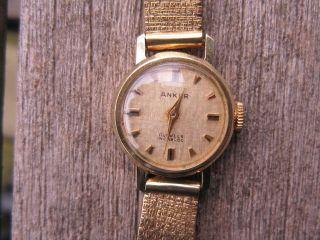 - - Damenarmbanduhr Anker Gelbgold 585er - Armband Gelbgold 333er - - Bild