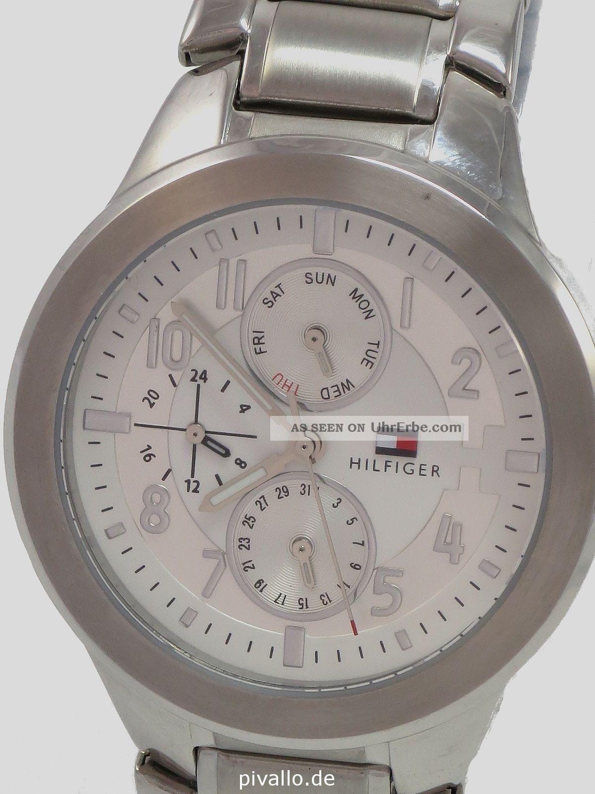 Tommy Hilfiger Damenuhr / Damen Uhr Edelstahl Datum Wochentag 1710237 Armbanduhren Bild