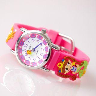 Kinder Mädchen Vive Lernuhr Armband Uhr Silikon Watch Analog Pink 25 Bild