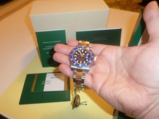 Rolex Submariner Oyster Perpetual Date & Ovp 116613lb Stahl/gold 08.  12.  2014 Bild