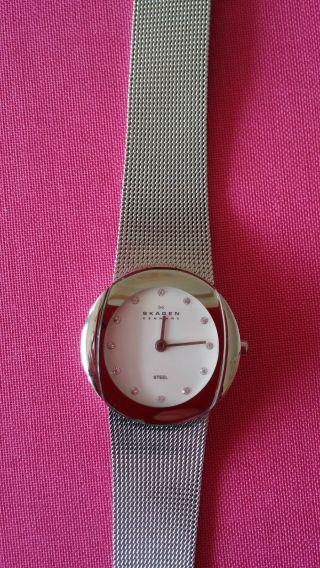 Skagen Edelstahl - Armbanduhr Mit Swarovski - Kristallen Bild