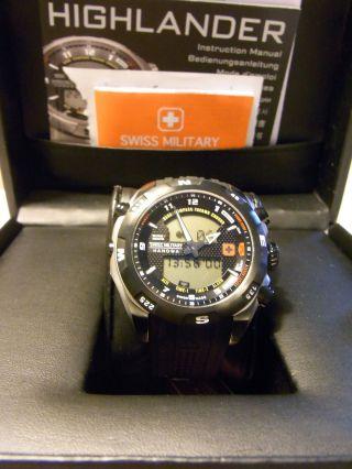 Swiss Military Hanowa Highlander 5 Tage Alt Barometer Altimeter Kompass Eol Bild