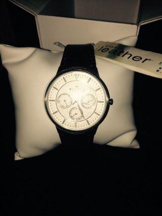 Skagen Herren Uhr Mit Lederband Modell 331xlsl4 Bild
