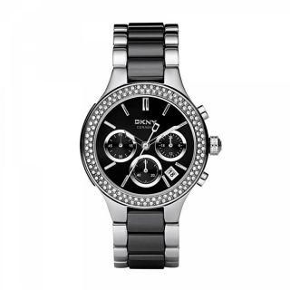 Dkny Uhr Ny8180 Chambers Damen Chronograph Edelstahl Keramik Armbanduhr Analog Bild