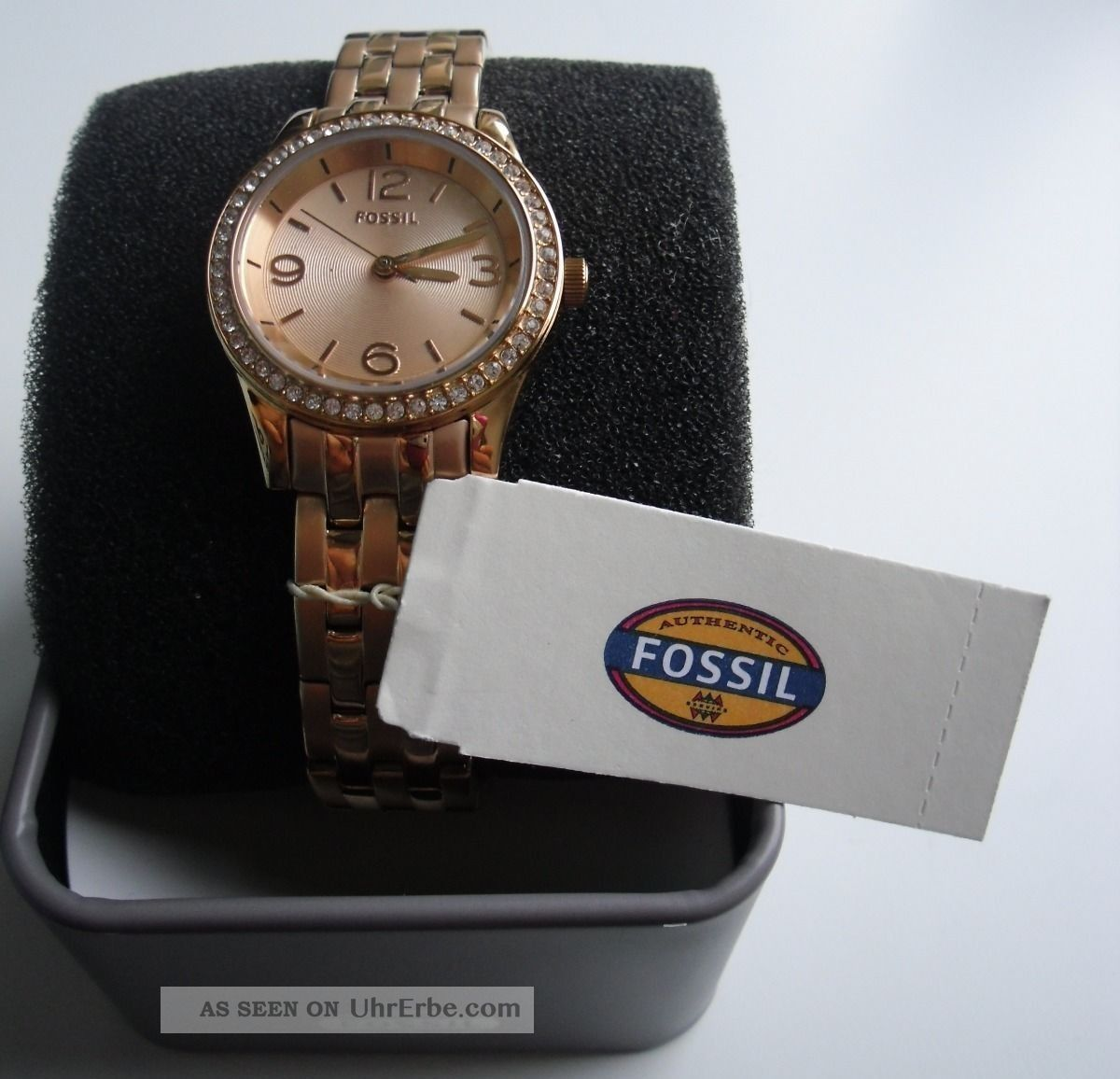 fossil damen armband uhr bq1425 rosegold uhren damenuhren. Black Bedroom Furniture Sets. Home Design Ideas