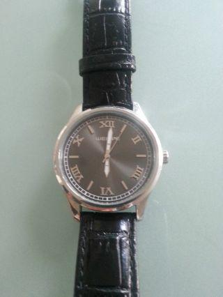 Wempe Armbanduhr Edelstahl Lederarmband - Bild