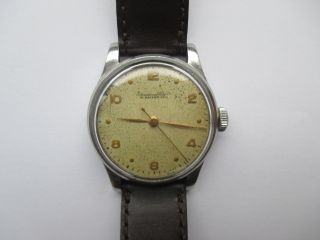 Vintage Iwc Handaufzug Cal.  89 Stahl Ca 50 Er Jahre Bild