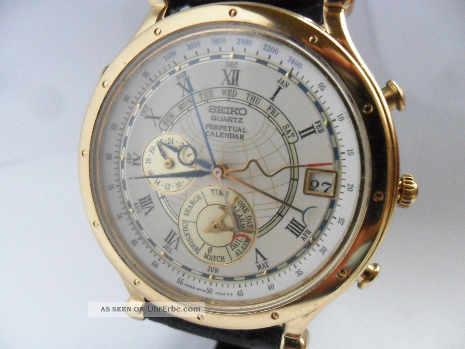 Seiko Perpetual Calendar Vintage : Herrenuhr seiko perpetual calendar gold plated japan watch top