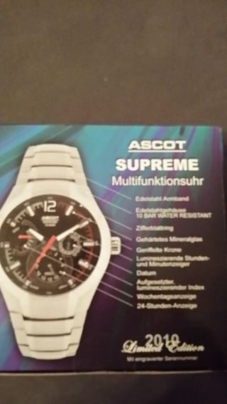 Ascot Supreme Multifunktionsuhr Limited Edidtion In Ov Bild