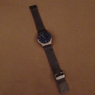 Skagen 233xlttn Titanium Slimline - Herren - Armbanduhr Silber Blau Bild