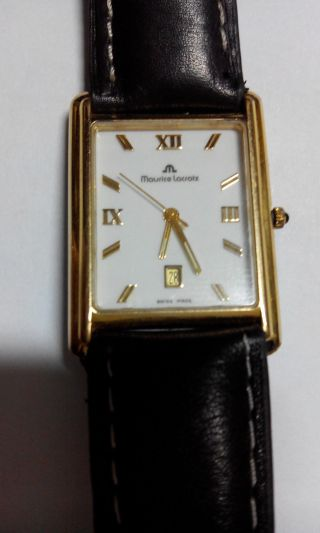 Maurice Lacroix Damen Armbanduhr Leder Braun Klassisch Elegant Vert Ca 500€ Bild