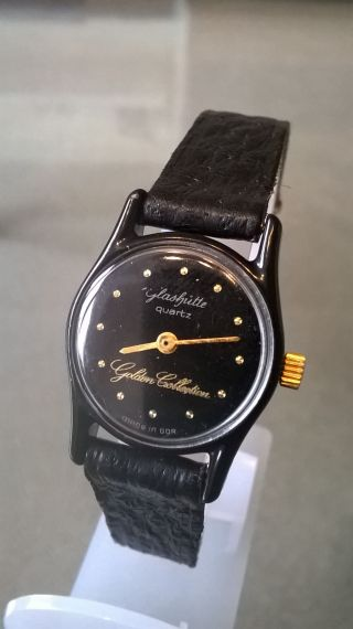 Glashütte Golden Colletion Damen Armbanduhr Quarz Selten.  Top Bild