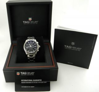 Tag Heuer Link Chronograph Automatik Calibre 16 Armband Uhr Mit Box & Papieren Bild