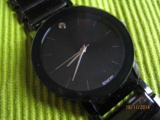 Kultige Große Schwere Schwarze Metall Designer.  Look Uhr - Masculine - Top Bild