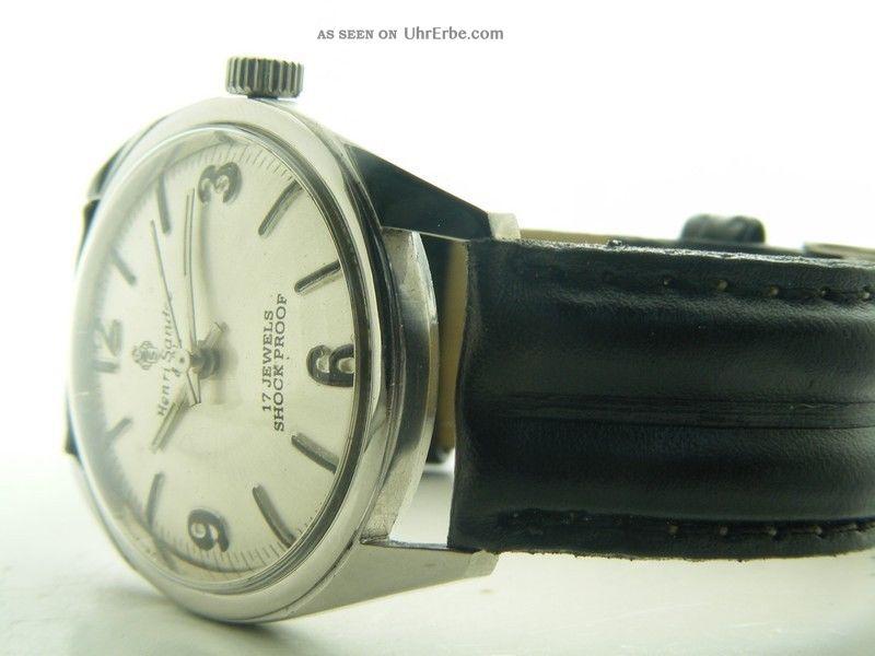 Henri Sandoz & Fils Armbanduhr Handaufzug Mechanisch Vintage Sammleruhr 194 Armbanduhren Bild