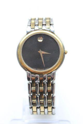 Movado Museum 81.  19.  865c 2 Farbig High Fashion Quartz Herrenuhr Armband Mens Bild